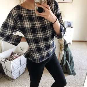 Madewell   Herald Tee In Curtis Plaid